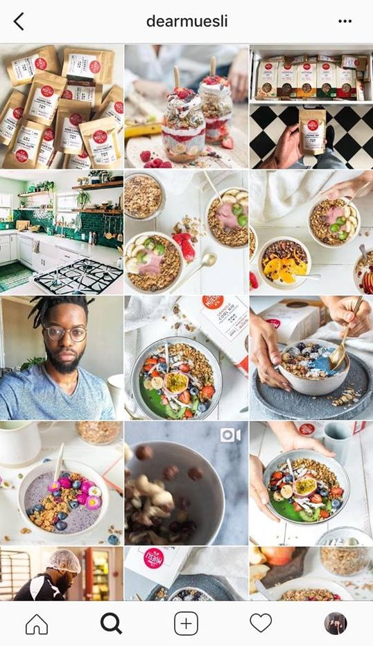 Dear Muesli, un exemple de communication sur Instagram