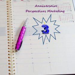 Perspectives Marketing, votre agence de communication fête ses 3 ans en 2019