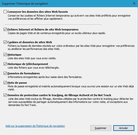 Vider le cache de Internet Explorer